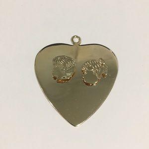 14k Yellow Gold Heart ❤️ Shape Kids Pendant